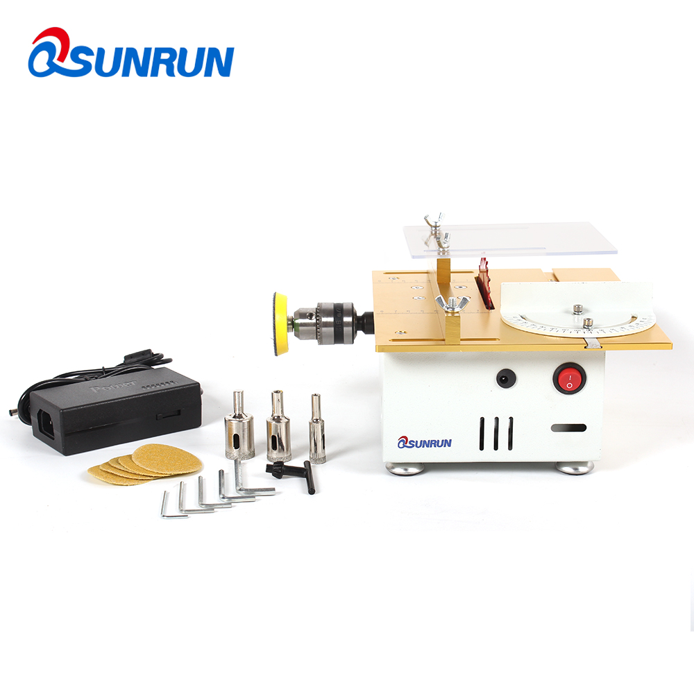 DIY Multi function Miniature Table Saw Woodworking Sawing Saws Cutting Model Saw Cutting Machine Grinding Polishing