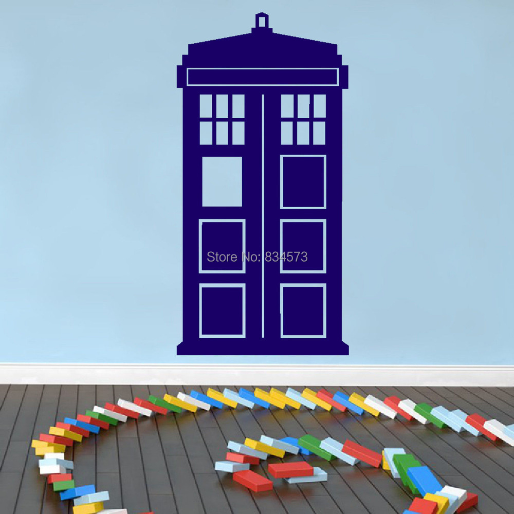 hot doctor who tardis wall art sticker decal diy home tardis dr who smashed wall decal removable graphic wall