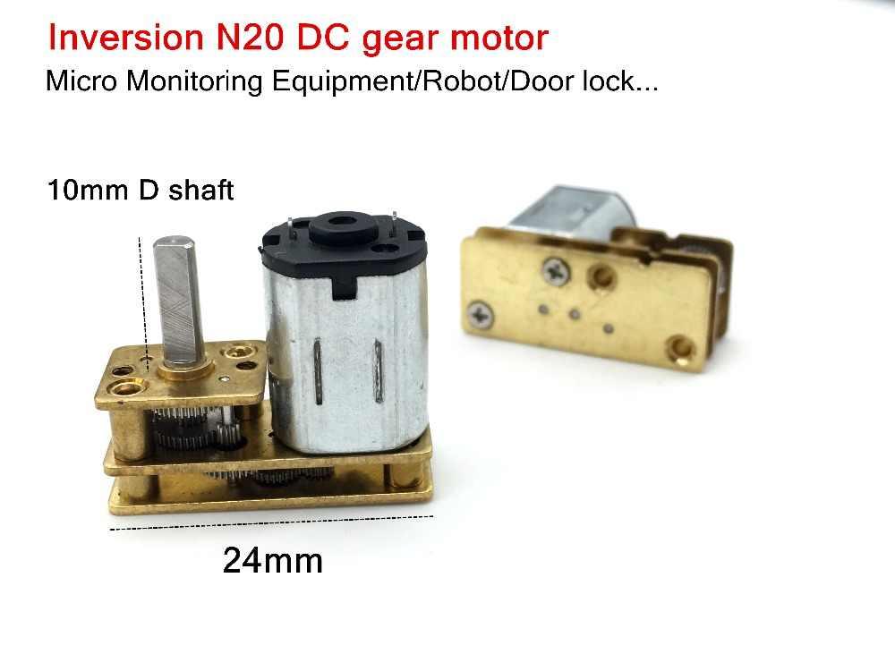 1024-N20 Getriebemotor Mikro DC Getriebemotoren 3V//6V//12V 20rpm~2000rpm