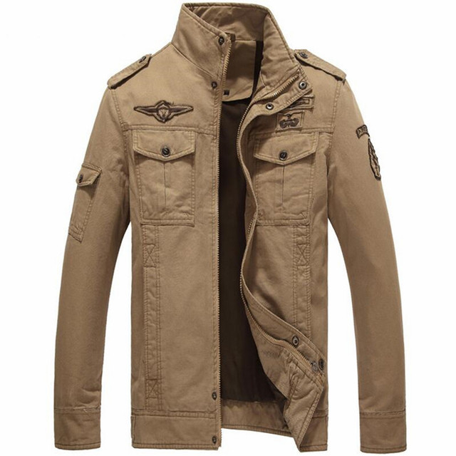 Cotton Bomber Jackets Men 2018 Military Beige Jacket Men Spring Jackets Mens Coats Army Outdoors Army Jacket Homme Coat 6XL
