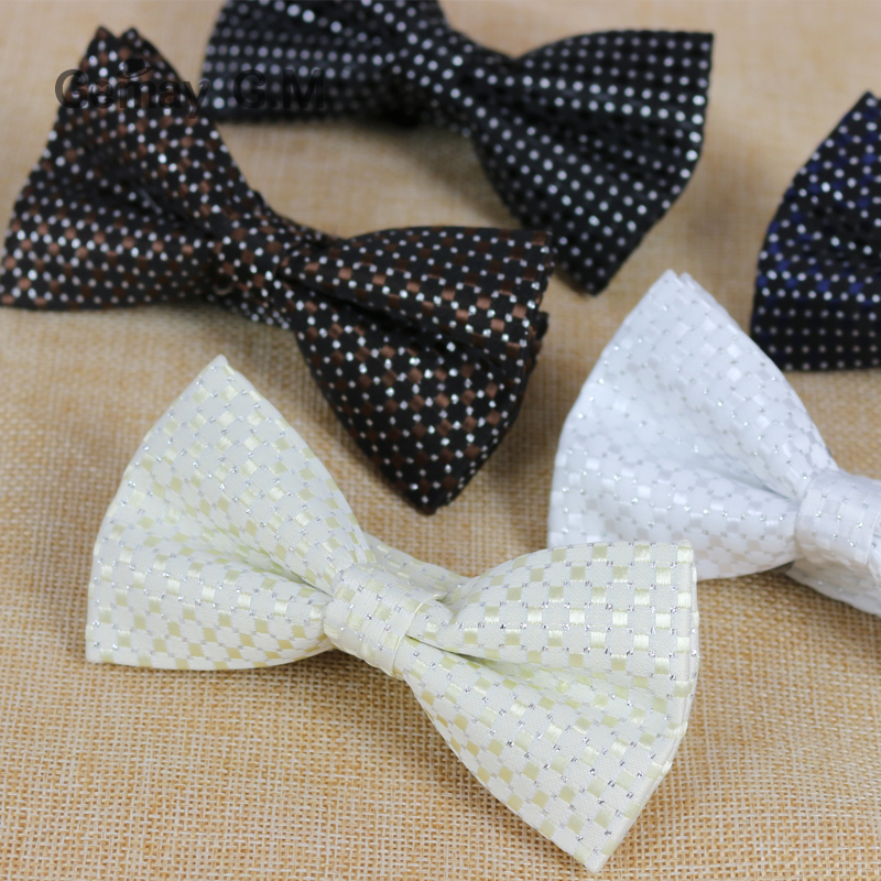 Fashion Rattan P Classic Polyester Mans Bowtie Adjustable Wedding Groom Bow Ties High Quality Bowties for Men