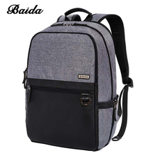 Mochilas New Business Unisex Backpack With High Quality British Wind Style Workplace Essential Modern Backbag With Leather