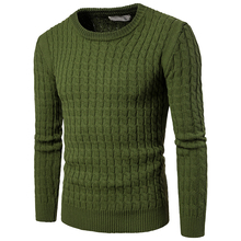 Tops New Fashion men casual keep warm sweater O-neck pullovers Slim men's Fine thread twist striped sweaters clothes size S-XXL