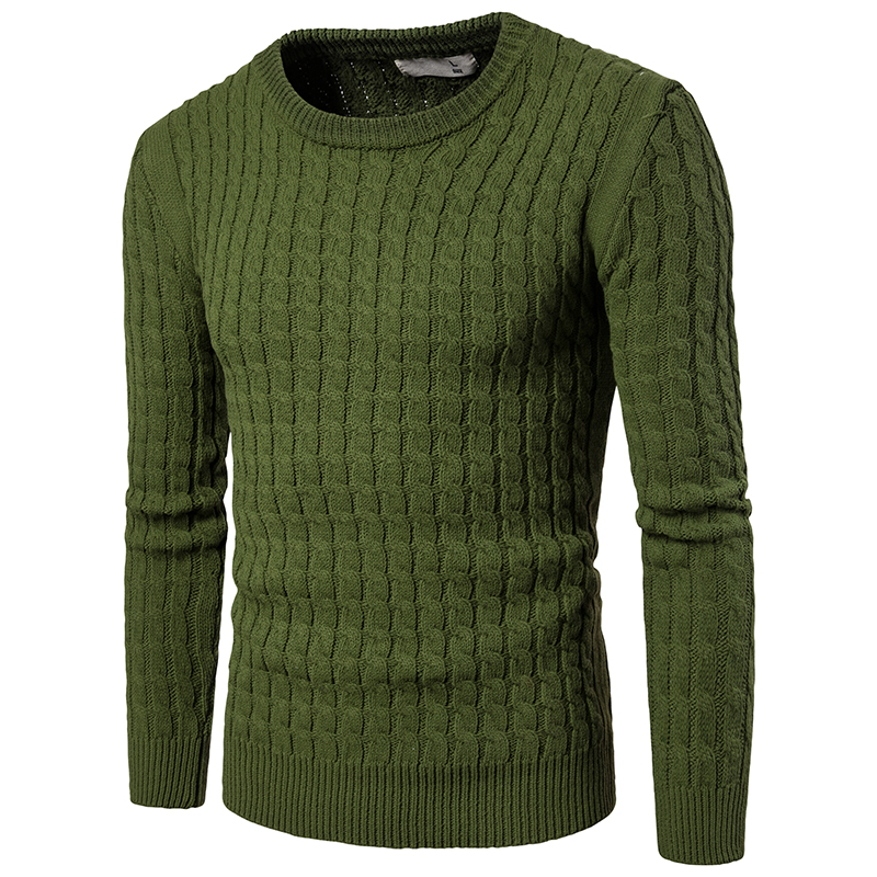 Tops New Fashion men casual keep warm sweater O neck pullovers Slim men s Fine thread