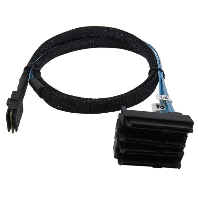lowest price sas sata cable Internal Mini SAS 36pin SFF-8087 to  4  29pin 15Pin SFF-8482 connectors with SATA Power