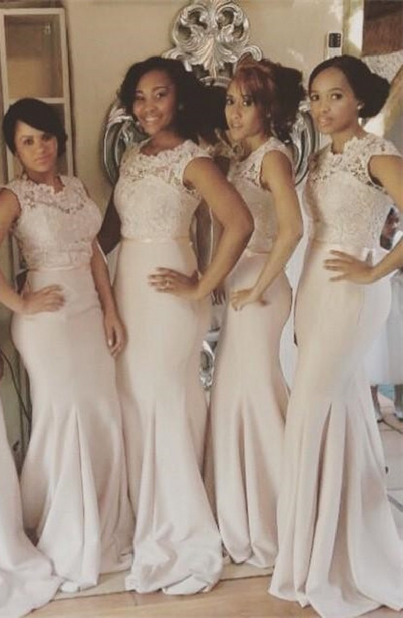 Popular Champagne Pink Bridesmaid Dress-Buy Cheap Champagne Pink ...