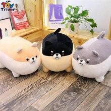 40cm Plush Shiba Inu Corgi Toy Stuffed Black Dog Puppy Pet Doll Pillow Cushion Baby Kids Birthday Gift Home Shop Decor Triver стоимость