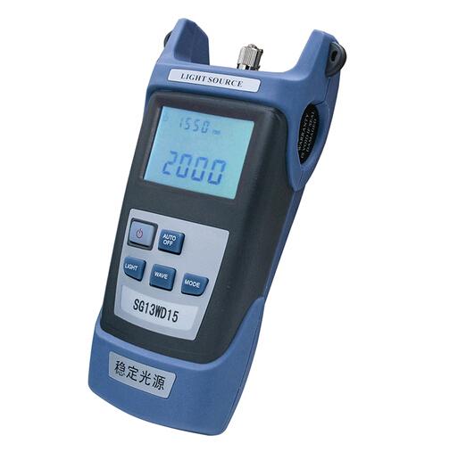 Fuente de luz de mano SG13WD15 fuente de luz láser, fuente de luz estable de mano De Fibra FTTH Probador instrumento de comunicación