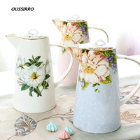 OUSSIRRO Ceramic Pitchers Water Bottles Cold Kettle No Explosion Jug Large Capacity Household Ceramic Thermos