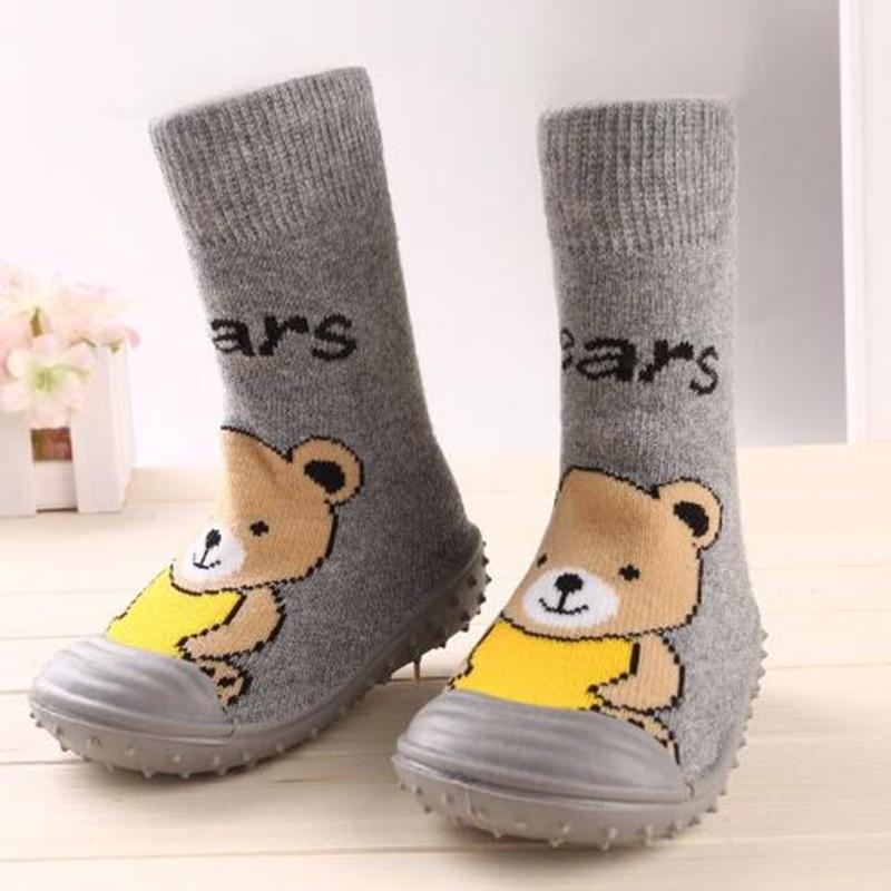 Kleinkind Schuhe Baby Mädchen Jungen Socken mit Gummisohlen Anti - Babyschuhe - Foto 5