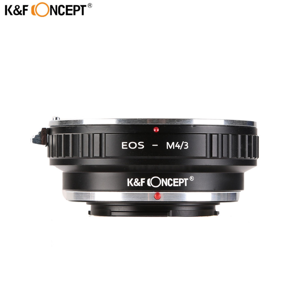 K&F Concept Lens Adapter for Canon for EOS EF mount Lens to M4/3 MFT for Olympus PEN and for Panasonic Lumix Cameras EOS-M4/3 fotga konica ar lens to panasonic olympus m4 3 adapter ring black