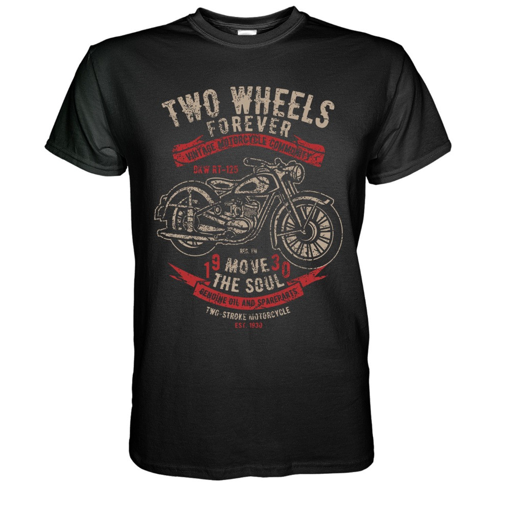 Vintage Motorcycles T-Shirt Dkw Rt 125 - Biker Chopper Bopper Ifa Mz Awo Kradt-Shirt For Male Short Sleeves 100% Cotton Classic