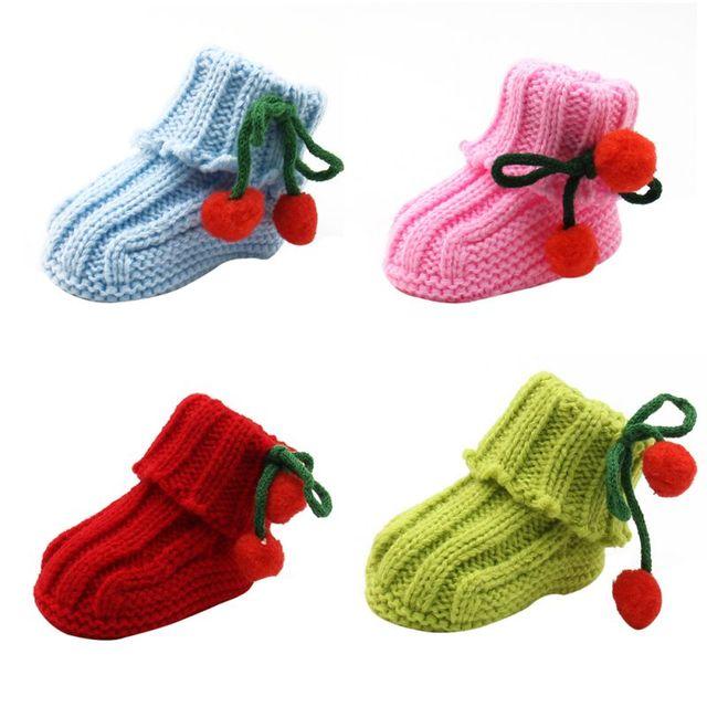 Niños bebé niño niñas cálido de punto de ganchillo calcetines bebé ...