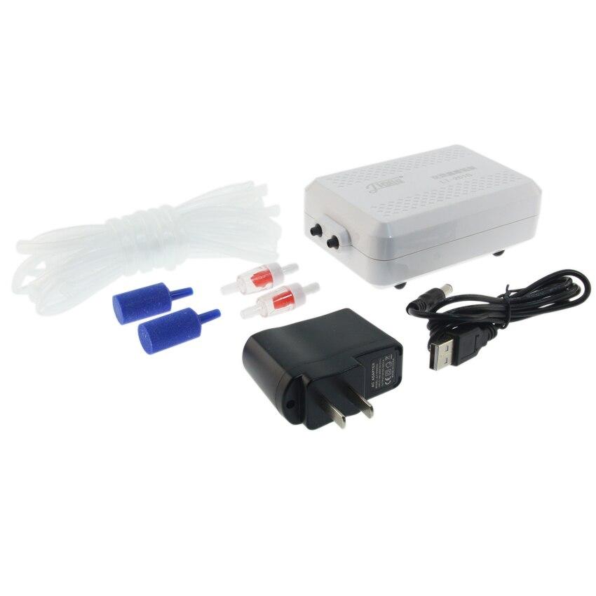 Aquarium pumpe outdoor-lithium-batterie tragbare sauerstoffpumpe belüfter kompressor zierfische kompressor 110 V-240 V 4 Watt