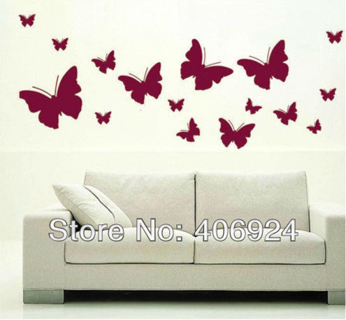 Hot Removable Drawing Room Wall Decor Erfly Decals Nursery Vinyl Stickers