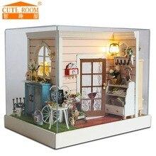 Ручной работы Кукольный дом мебель миниатюрный кукольный домик миниатюре diy кукольные домики деревянные игрушки для детей подарок на день рождения Z01