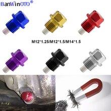 Jdm parafuso de drenagem de óleo, plugue de drenagem de óleo magnético para passat nissan toyota peugeot m12x1.25/m12x1.5