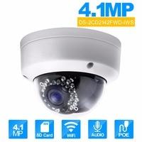 HIKVISION 4MP CCTV Camera DS 2CD2142FWD IWS 2.8mm MINI WIFI Dome Camera PoE IP Camera Original Updatable wireless ip cam