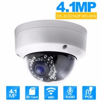 H IKVISION 4MPกล้องวงจรปิดDS-2CD2142FWD-IWS 2.8มิลลิเมตรมินิWIFIกล้องโดมPoEกล้องIP