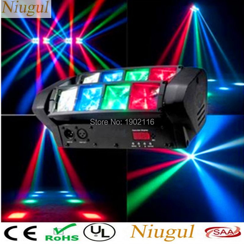 Niugul High quality Mini Led Spider light RGBW DMX512 led Beam Lights ktv dj disco lighting Home party lamps With Free shipping 2pcs lot rgbw double head 8x10w led beam light mini led spider light dmx512 control for stage disco dj equipments free shipping