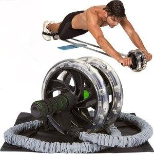 Ab Roller Wiel Pull Touw Taille Buik Afslanken Fitness Outdoor Fitness Weerstand Bands Weerstand Buik Wiel Training(China)