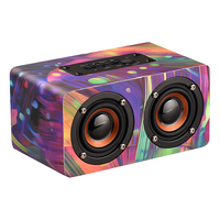 Luxury Colorful Wooden Bluetooth wireless speaker portable Subwoofer super bass Wireless receiver Handsfree call music speakers