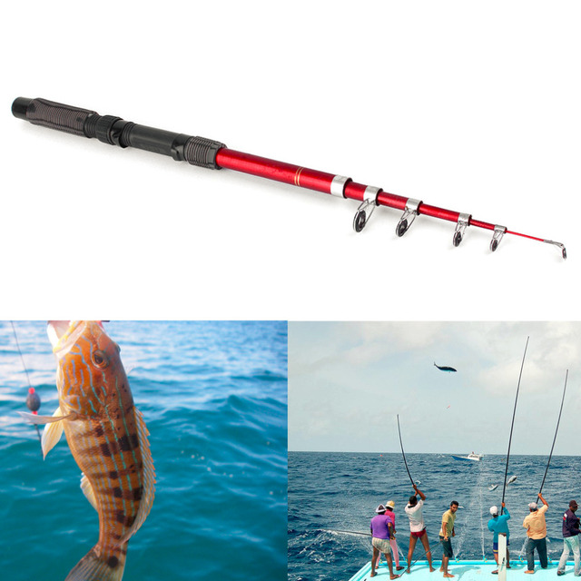 Portable Fishing Pole Tackle Carbon Fiber Spinning Lure Rod 2.1/2.4/2.7/3.0m new
