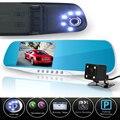 Lente dual cámara del coche espejo retrovisor auto registrator dvrs coches dvr grabador de vídeo completo hd1080p visión nocturna dash cam videocámara