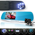 dual lens car camera rearview mirror auto dvrs cars dvr  recorder video registrator full hd1080p night vision dash cam camcorder