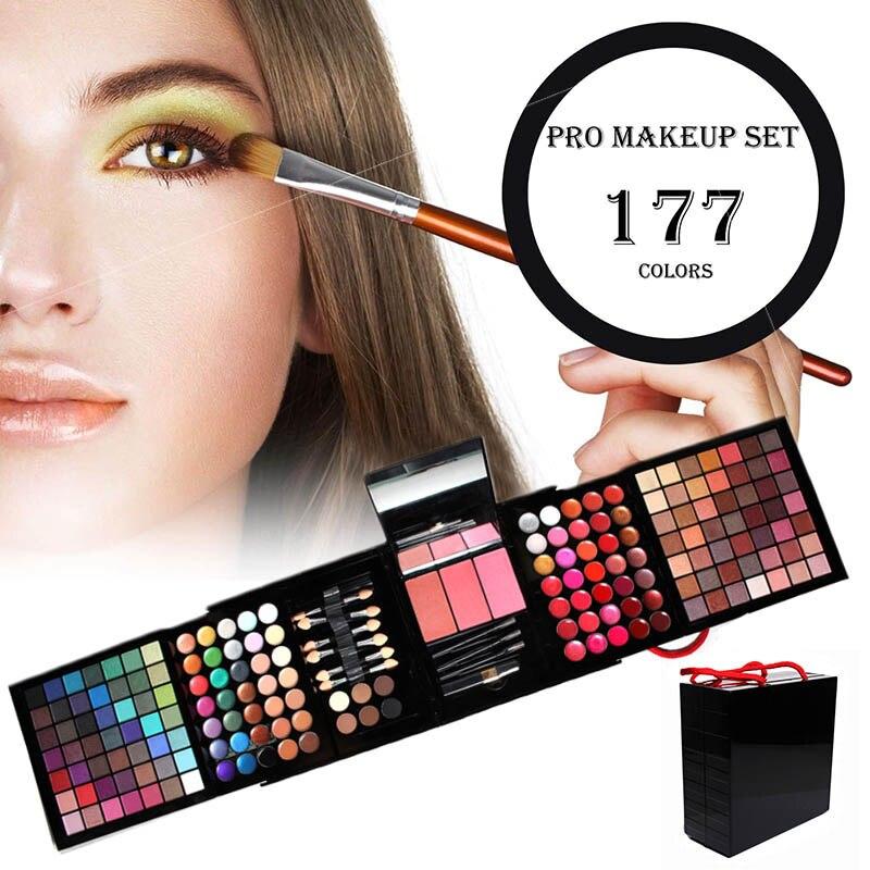 Professionale 177 Colori Trucchi Tavolozze Kit Matte Glitter Eyeshadow Pallete Blush, fard In Polvere Sopracciglio Set HJL2018
