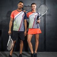 New Quick dry Badminton sports t shirt Tennis shirts Tennis t shirt Male/Female Table Tennis t shirt French tennis jersey