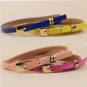 Candy Colors Leather Belt