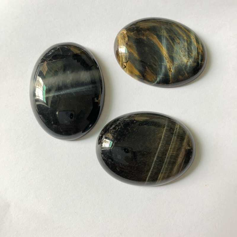 AA Quality Natural Blue Tiger Eye Cabochons Oval 30x40mm CAB Semi precious stone Jewelry Cabochon Ring Face 1pcs/lot