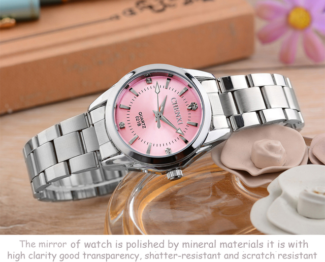 5 Fashion colors CHENXI CX021B Brand relogio Luxury Women's Casual watches waterproof watch women fashion Dress Rhinestone watch 4