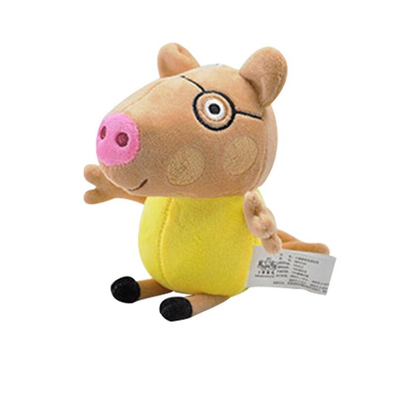 19 см оригинальная Свинка Пеппа Джордж Животные Мягкие плюшевые игрушки мультфильм семья папа мама друг Pelucia мягкие куклы игрушки детские подарки - Цвет: Pedro Pony