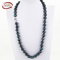 SNH Genuine freshwater pearl necklace jewelry,real wedding pearl necklaces for women mother birthday anniversary best gi