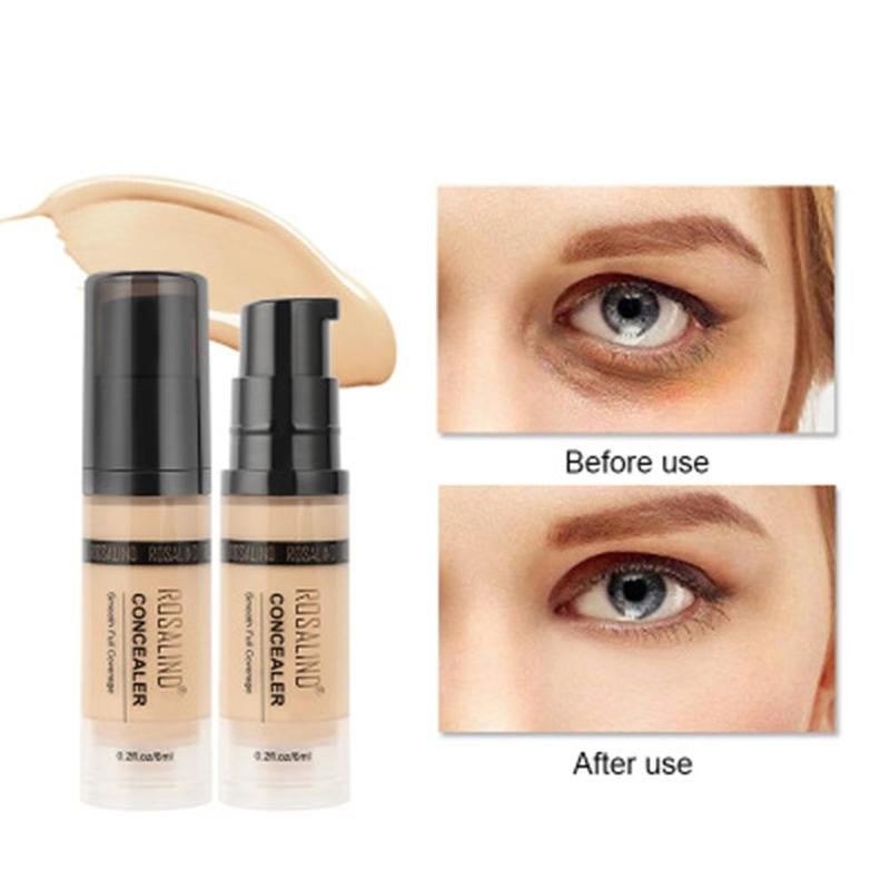 ROSALIND 6ml Concealer Corrector 6 Colors Full Coverage Long Wearing Cosmetics For Face Contouring Makeup Facial Corrector