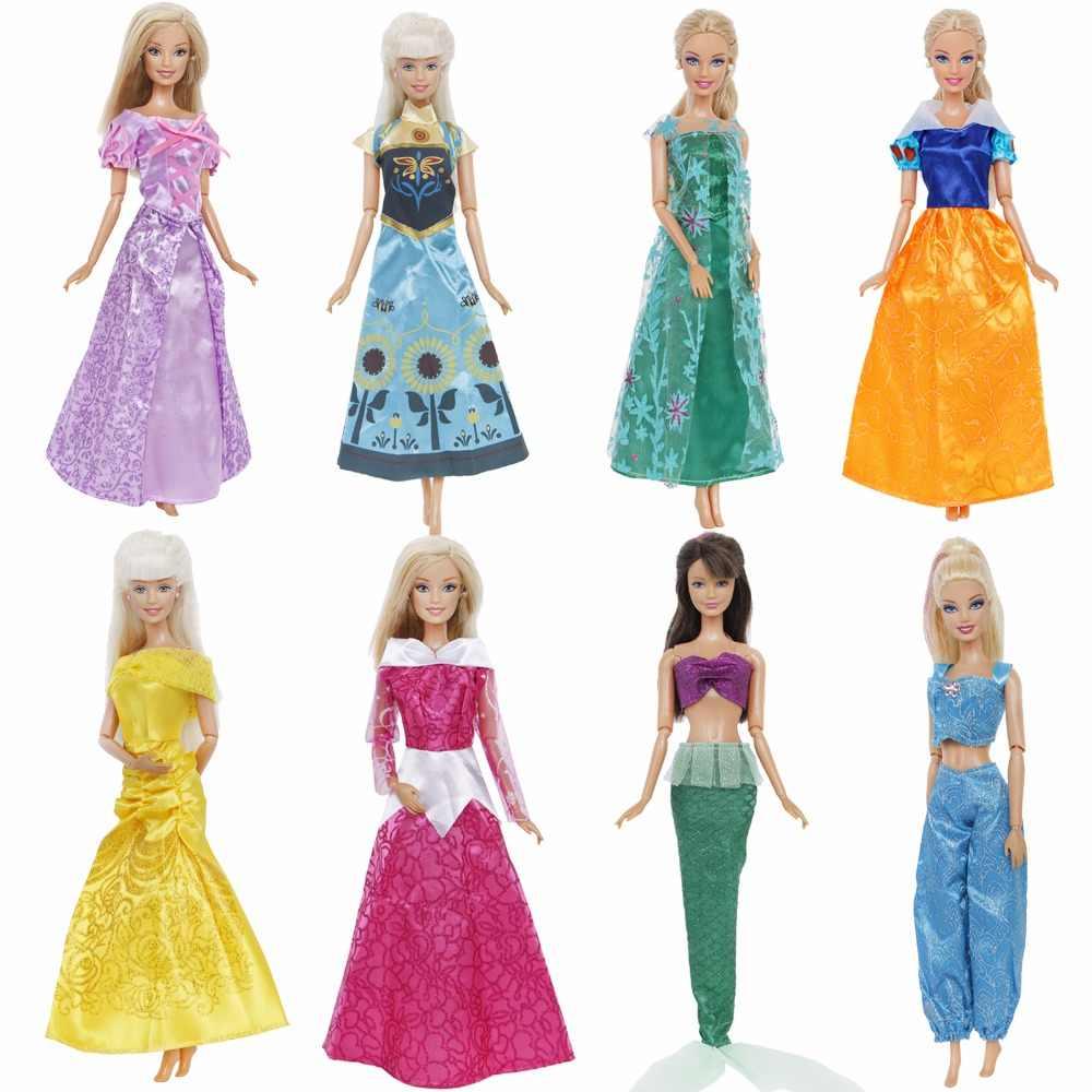Классическое сказочное платье копия Золушки Спящая красавица Русалочка, Белоснежка Принцесса Одежда для куклы Барби аксессуары