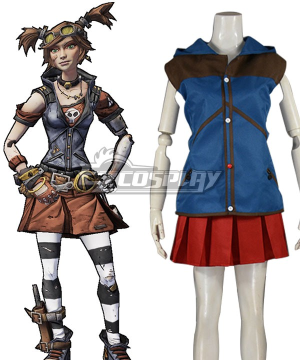 <font><b>Borderlands</b></font> Gaige Cosplay <font><b>Costume</b></font> (Only Top and Skirt ) E001 image