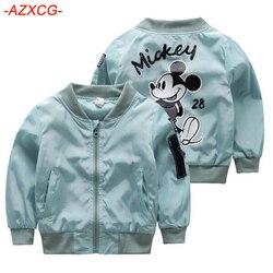 Girls Mickey Jacket Kids 1-6Y Clothing Baby Girls Boys Coat Cartoon Printed Flight Jacket Autumn Boy Outerwear Children Clothes