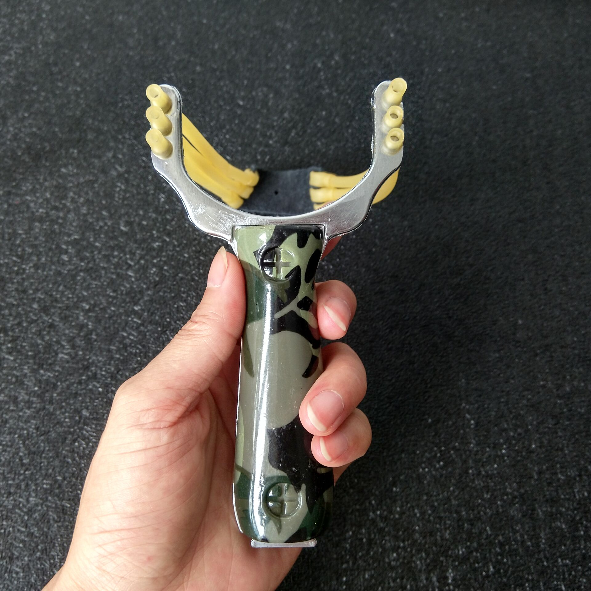 Professional Slingshot Sling shot Aluminium Alloy Slingshot Catapult Camouflage Bow Un-hurtable Outdoor Game Playing Tools(China)