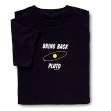 Funny Space T Shirt Bring Back Pluto Planet Geek Nerd Tee Mens Fashion Novelty Short Sleeve Tee Tops Clothes