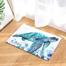 2017 Добро пожаловать Коврики Turtles печатных Ванная комната Кухня ковры двери Коврики S кошка напольный Коврики для Гостиная противоскользящие Tapete esteras