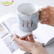 1 Pc Emulation Marble Coffee Mat Black White Pattern Coaster Cup Pads Waterproof Mug Pad Western Table Decoration