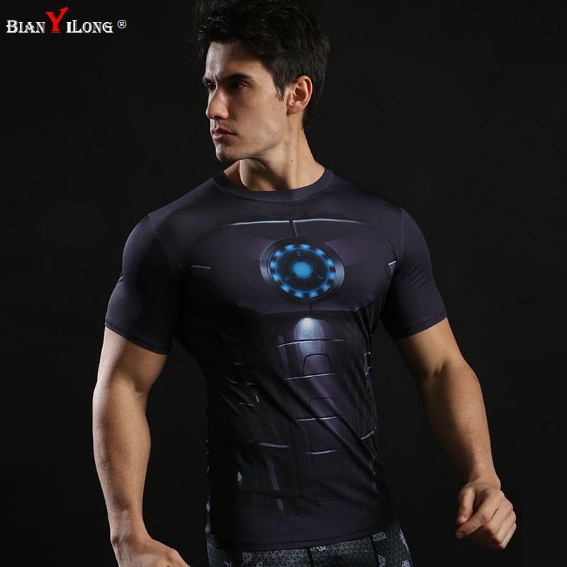 Superman Batman Camisa De Compressão Calças Justas da Aptidão Crossfit  Quick Dry Homens T Tops Camisa Roupas camisa de Manga Curta T Verão em  Camisetas de ... 9c8fd7ce0e79d