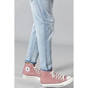 Image 4 - SIMWOOD 2020 printemps nouveau déchiré jean hommes mode bleu clair cheville longueur trou denim pantalon grande taille marque vêtements 190348