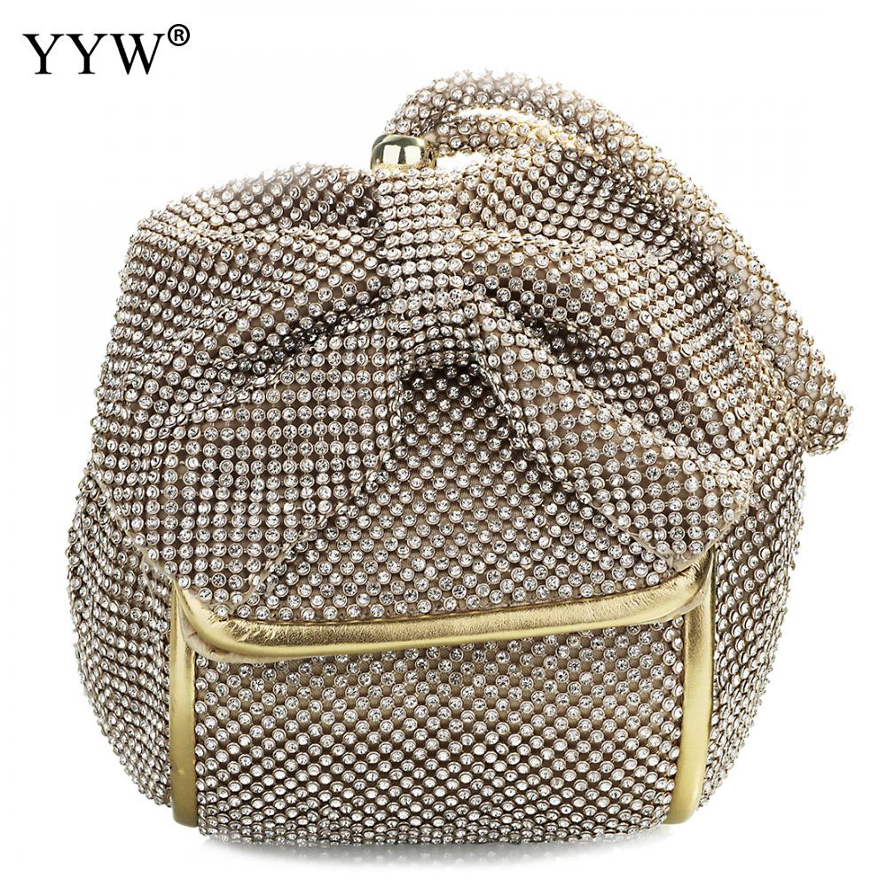 Fashion Pu Leather Clutch Bags Of Women Solid Casual Women Small Bag Silver Gold Rhinestone Party Evening Bag Bolsa Feminina