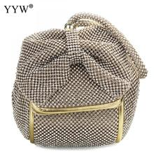 Fashion Pu Leather Clutch Bags Of Women Solid Casual Women Small Bag Silver Gold Rhinestone Party Evening Bag Bolsa Feminina