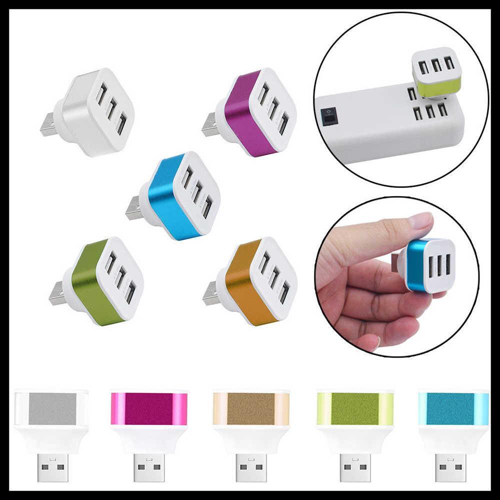 3-ميناء USB 2.0 محول الفاصل Hub المتوسع مع للتدوير التوصيل ل حاسوب شخصي مكتبي الهاتف المحمول