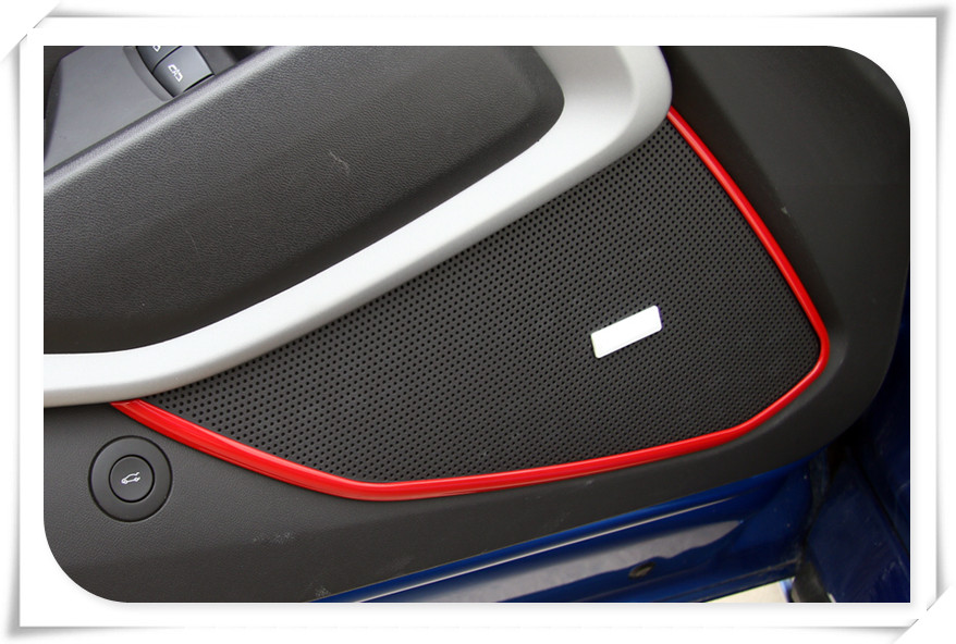 Inner Door Speaker Sound Cover Trim For Chevrolet Camaro 2016 2017 accessories car styling qhcp carbon fiber car styling door handle cover sticker trim frame for chevrolet camaro 2016 exterior accessories free shipping
